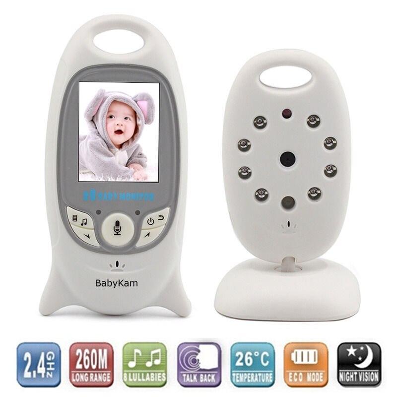 BabyKam 2,0 дюймов Беспроводной Видеоняни и радионяни с Камера ИК ночного видения колыбельные домофон видео-Няня няня Babyphone Камера