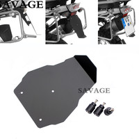 Motorcycle Black Number Plate Splash Guard License Plate Holder For BMW R1200GS LC 2013 2016 R1200GS