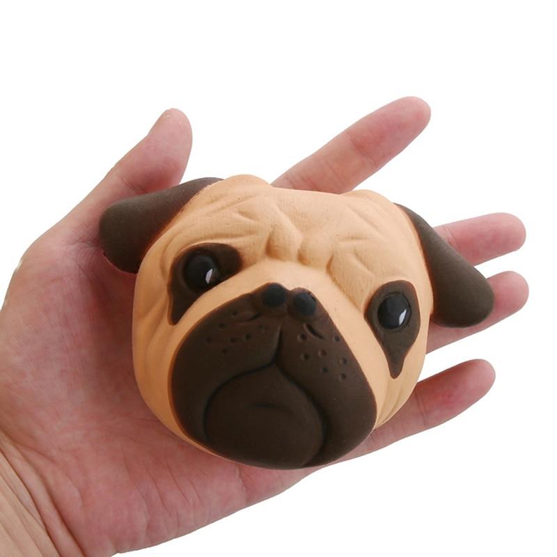 Голова собаки 11,5 см, мягкое моделирование, игрушки для животных, украшение, снимает стресс, сжимает, медленно восстанавливает форму, мягкий ...
