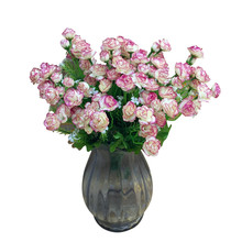 Buy pink flower bushes and get free shipping on aliexpress artificial fake flower bush bouquet home wedding party garden decor pink 2018 european style ornament fake mightylinksfo