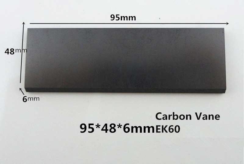 95*48*6mm Graphite vane pump vane sheet /EK60 vanes, carbon graphite plate for vacuum pumps