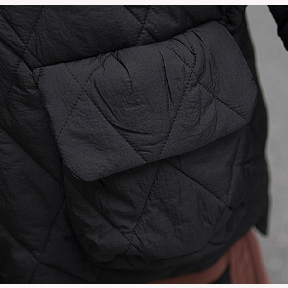 Court Beige Mode Veste Le 1811221431 Lâche Pour Capuchon Bas Femmes noir Chaud Casual Outwear Droite bleu Vers Hiver L'automne Manteau À wCqPYUgfx