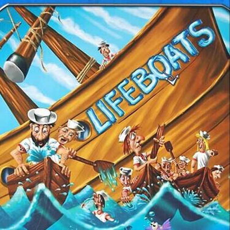 LIFEBOATS Board Game Puzzle Cards Games English/Chinese Edition Funny Game For Party/Family castles of burgundy board game 2 4 players cards games send english instruction funny game for party family with free shipping