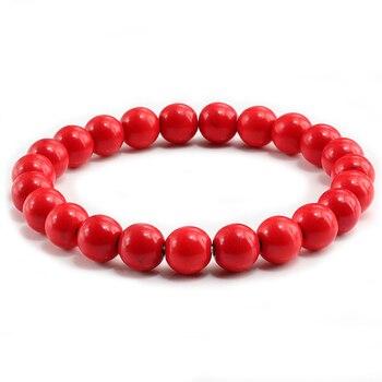Classic Black Natural Stone Bracelet Men Charms Blue White Transparent Beaded Bracelets Women Yoga Buddha Chain Bangles Jewelry 2