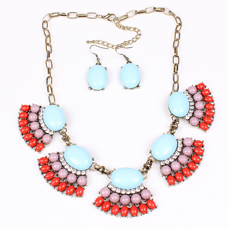 product hot style brand modelling Bohemian adorn article 3 color into Europe and the United States necklace/chain