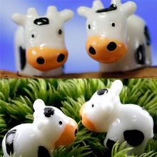 DIY Mini Craft Animals Snails Dogs Cats Cows Figurine Micro Potted Landscape Bonsai Garden Ornament Miniature Fairy Garden Decor