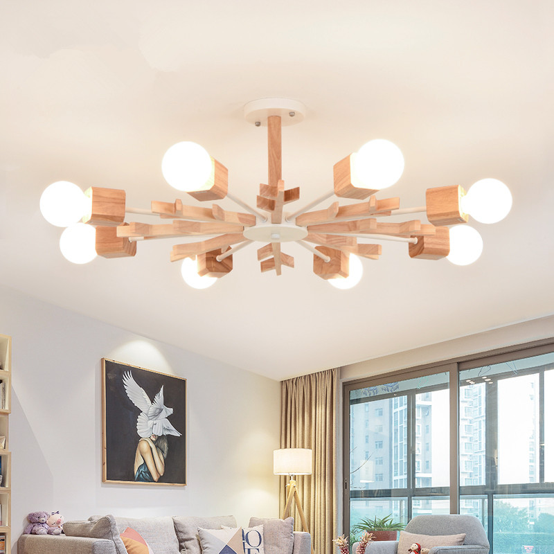 Modern Wooden snowflake ceiling lights for living room Bedroom hallway home ceiling lamp acrylic aluminum body LED ceiling LampModern Wooden snowflake ceiling lights for living room Bedroom hallway home ceiling lamp acrylic aluminum body LED ceiling Lamp