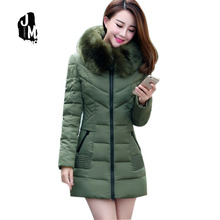 2016 New Arrival None Long Solid Zipper Slim Thick Full Cotton Broadcloth Down & Parkas