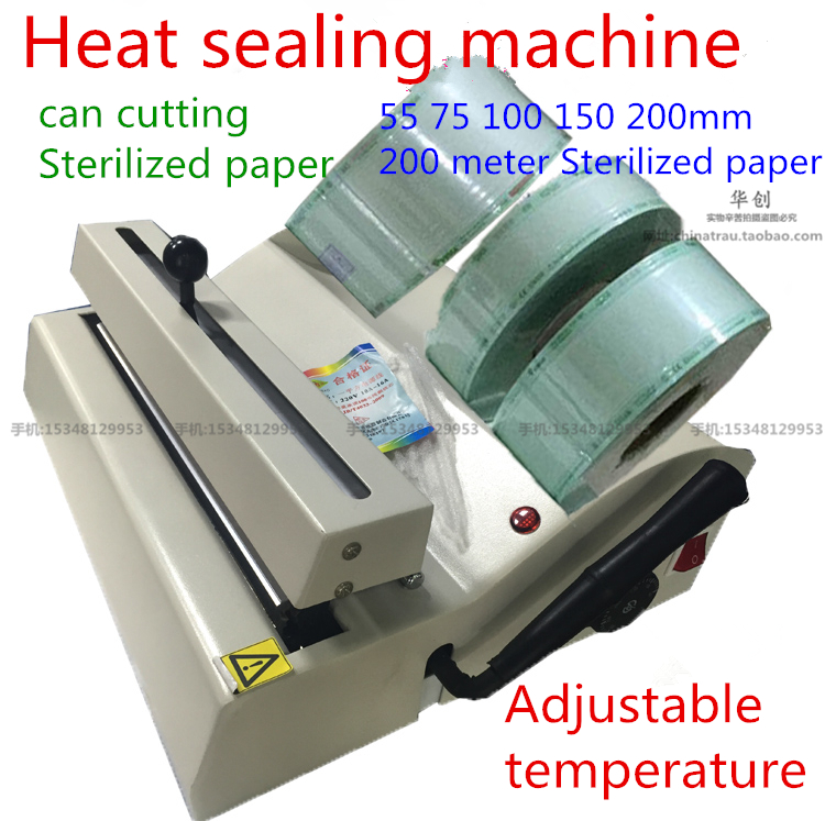 Wrapping Machine Sealer Medical Heat Sealing Machine Dental Sealing Machine Sterilization Package Disinfection Sterilized Paper