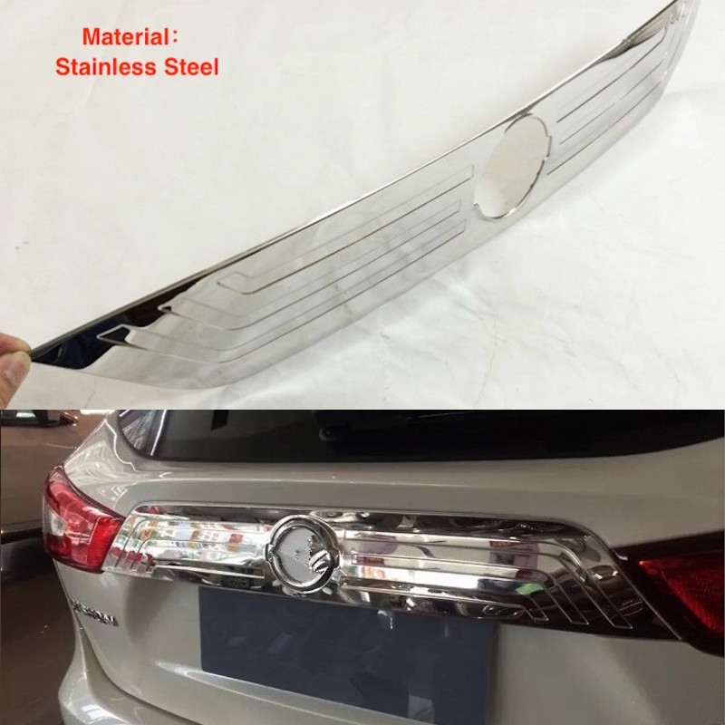 For Nissan Qashqai J11 2015 2016 2017 Stainless Steel Tail Gate Door Cover Trims Rear Trunk Molding Bezel Garnish Car-Styling