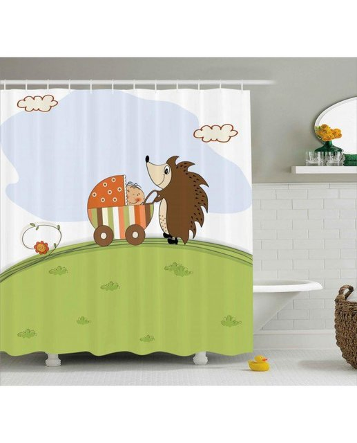 Funny Shower Curtain Baby Shower And Hedgehog Print For ...