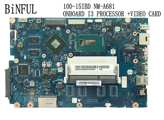BiNFUL Stock,CG410 / CG510 NM-A681 FOR LENOVO 100-15IBD LAPTOP MOTHERBOARD BUILD-IN I3 PROCESSOR, Gt920m (qualified Ok)