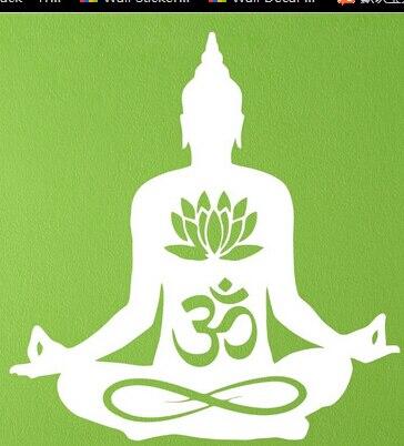 Livraison Gratuite Bouddha Fleur De Lotus Om Yoga Vinyle Sticker