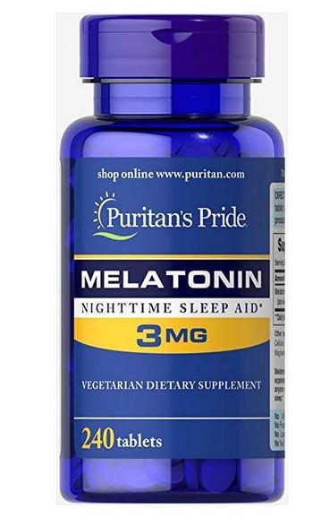 Puritan s Pride Melatonin 3 mg 240 Tablets X 2 bottles