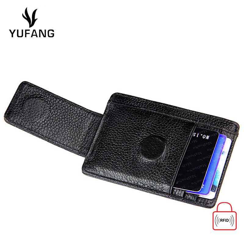 Yufang держатель для карт Противоугонная щетка наборы карт анти-магнитный RFID доллар папка для билетов анти-сканирующий кошелёк для карт