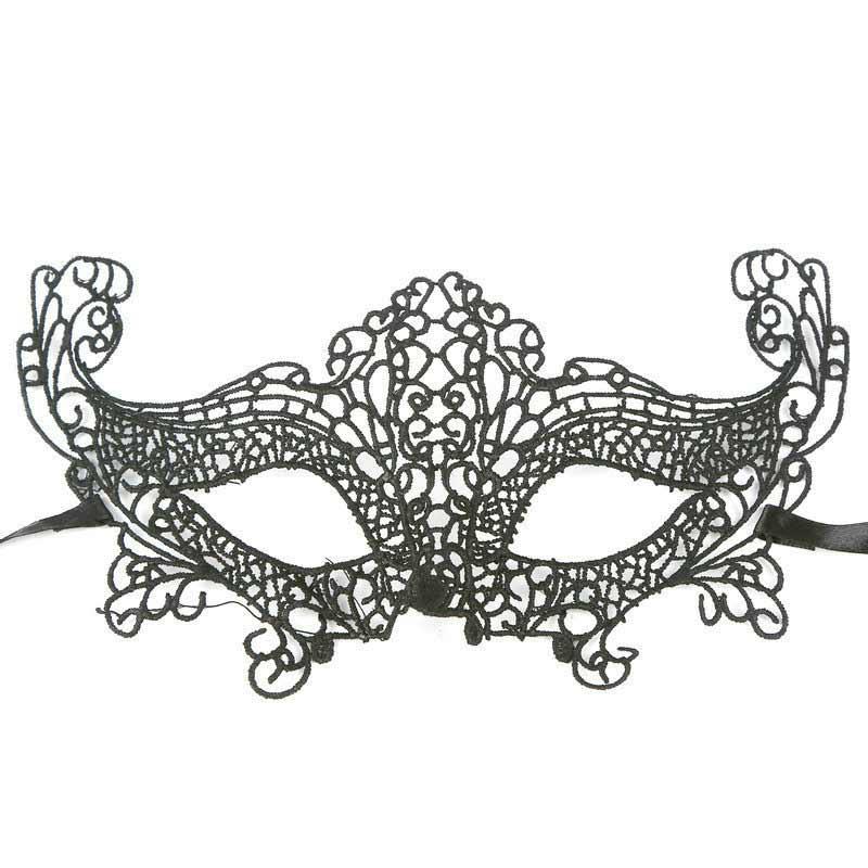 aliexpresscom buy 1pcs black sexy lace eye cutout mask halloween party masks venetian masquerade cosplay mask carnival venetian lace half mask from - Black Eye Mask Halloween
