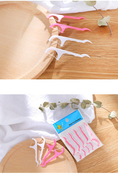 200pcs/pack Disposable Dental Floss Flosser Picks Teeth Toothpicks Stick Tooth Clean Oral Care 7.5cm 3