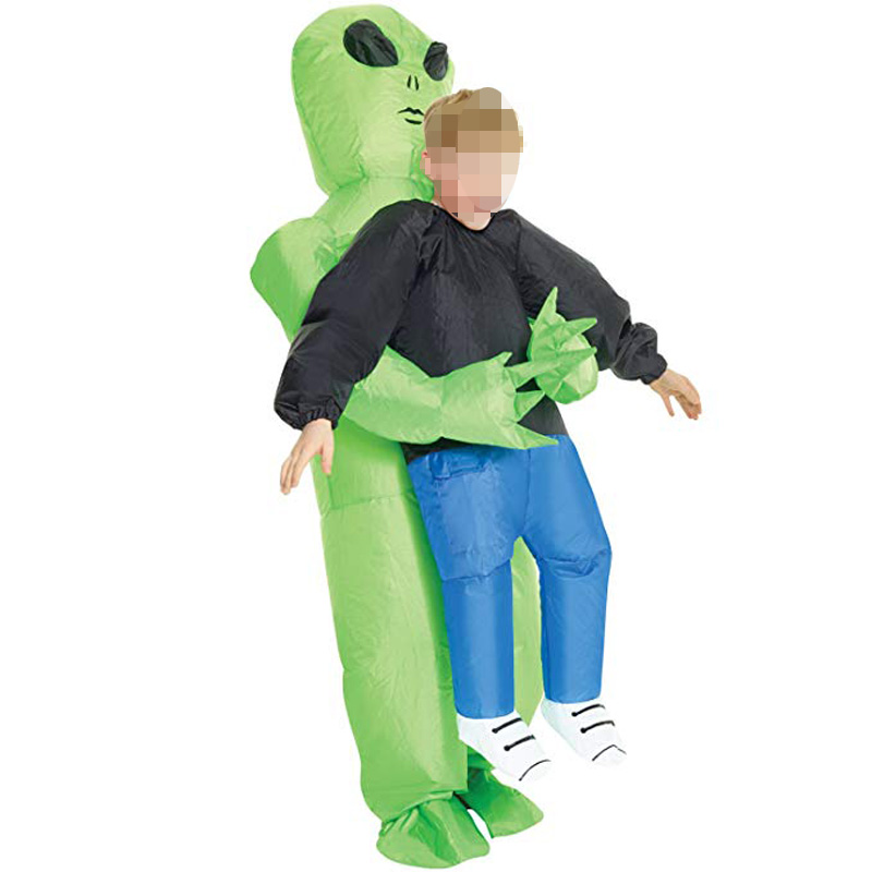 Kids Adult Green Alien Inflatable Costume Christmas/Halloween/Birthday/Make-up Party Fun Toys ET Dress Up Cosplay Suits OutfitKids Adult Green Alien Inflatable Costume Christmas/Halloween/Birthday/Make-up Party Fun Toys ET Dress Up Cosplay Suits Outfit