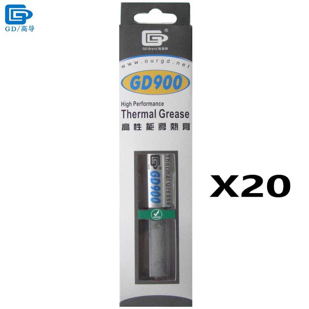 GD900 Thermal Conductive Grease Paste Silicone Plaster Heat Sink Compound 20 Pieces Net Weight 30 Grams High Performance BX30