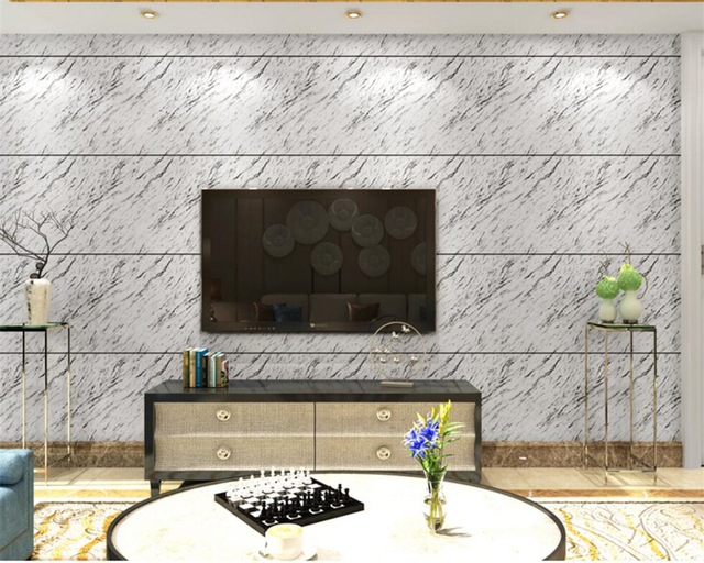 Beibehang Wallpaper Simple Bedroom Living Room TV Setting Copy Marble Modern Home Decorative For