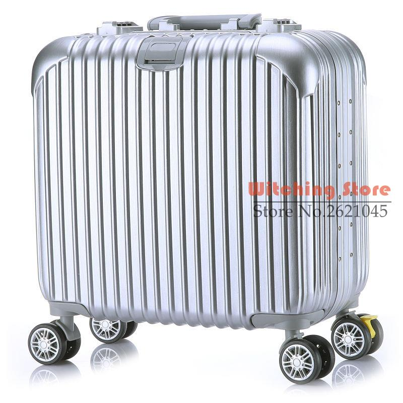 17 INCH 17 font b Luggage b font universal brake wheel landing chassis with customs really