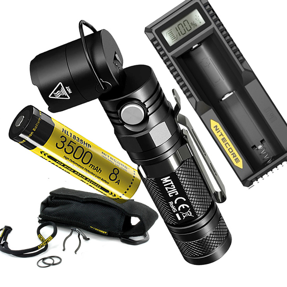 NITECORE MT21C Multi functional Flashlight Kit CREE XP L HD V6 max 1000 lumen 90 Degree Adjustable torch beam distance 184 meter-in Flashlights & Torches from Lights & Lighting    1