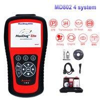 Autel MD802 4 System Car Diagnostic tool Auto OBD OBD2 Code Reader Scanner Automotivo Scan Tools