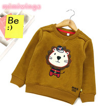 2017 autumn and winter new children round neck cartoon cashmere sweater children's clothing