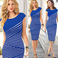 FANALA Summer Dress Women Style Bodycon Dresses Sexy 2017 Work Office Casual O Neck Sleeveless Midi Pencil Dress Black Blue