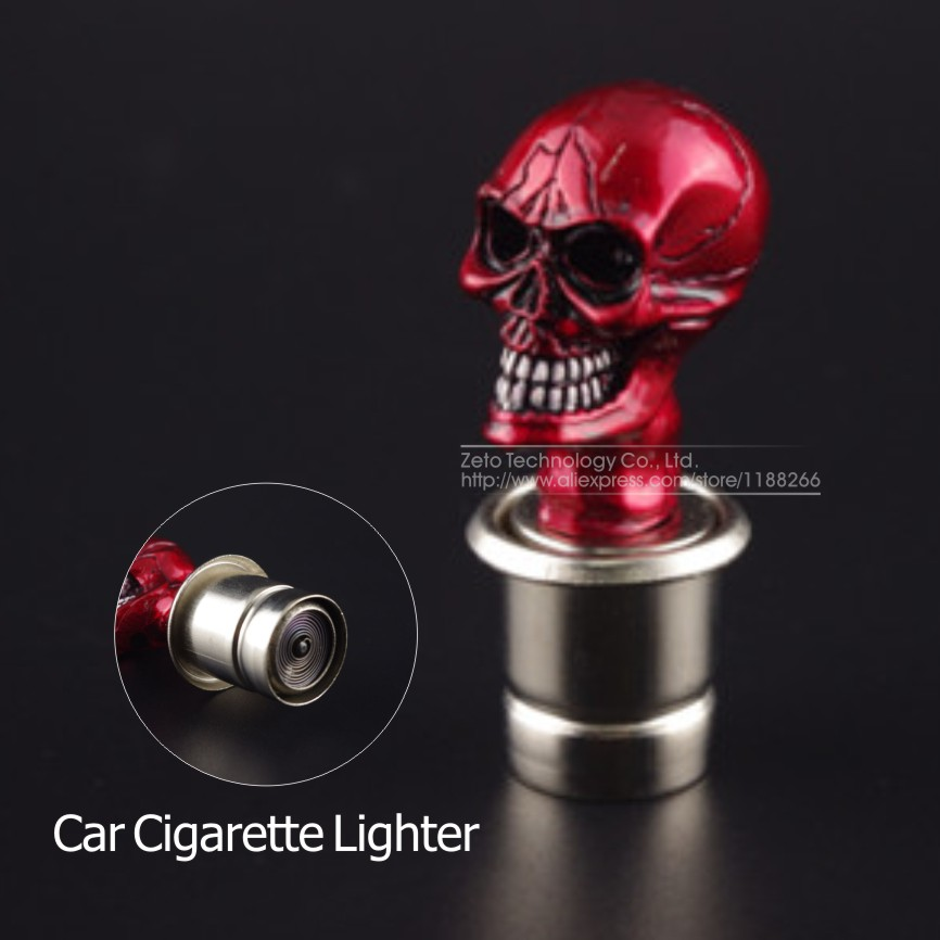 car cigarette lighter skull and crossbones design skull heads power plug smoke heater car. Black Bedroom Furniture Sets. Home Design Ideas