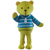 2014 New Arrival Custome NEW Style Brown Teddy Bear Mascot Costume Adult SIZE Fancy Dress Cartoon Character Outfits Suit
