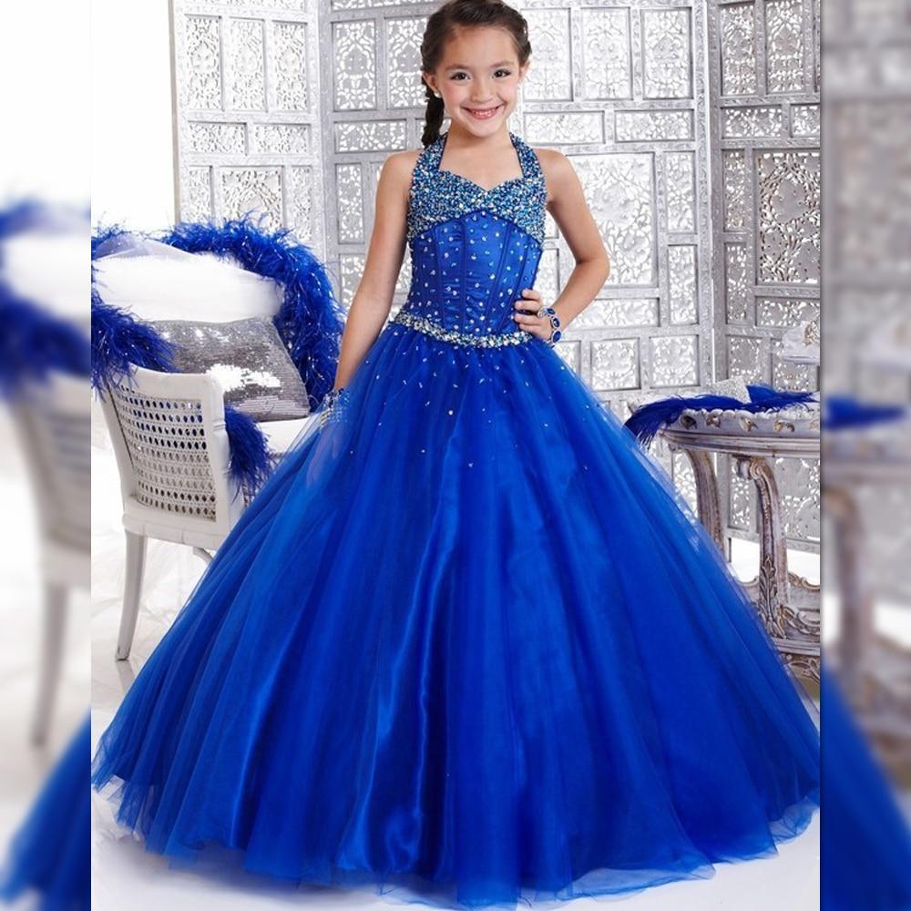 Popular Royal Blue Pageant Dresses Kids-Buy Cheap Royal Blue ...