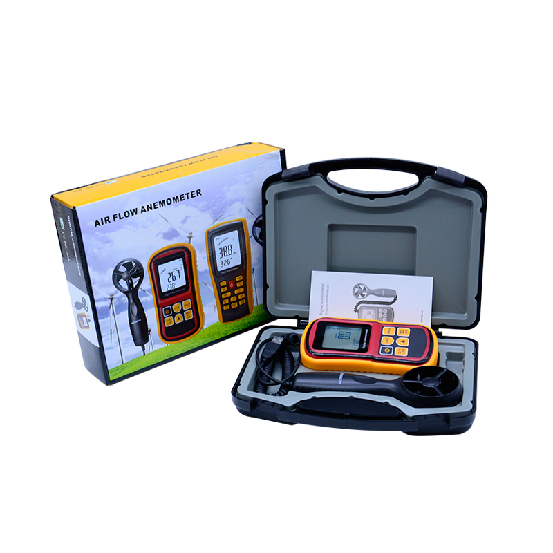 Handheld digital Anemometer 45m/s (88MPH) GM8901 Digital Thermometer Electronic Hand-held Wind Speed Gauge Meter with carry box high quality gm8901 with box 45m s 88mph lcd digital hand held wind speed gauge meter measure anemometer thermometer