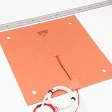 KEENOVO силиконовый обогреватель 310x310 мм для Creality CR-10 3D-принтер кровать с отверстиями для винтов, клейкая основа и датчик