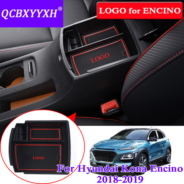 QCBXYYXH Car Styling For Hyundai Kona Encino 2018 Car Center Console  Armrest Storage Box Covers Interior