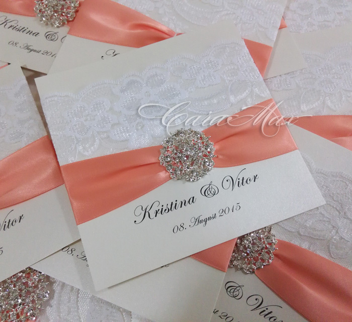 Aliexpresscom buy ca0662 elegant lace decorated wedding for Buy wedding invitations in store