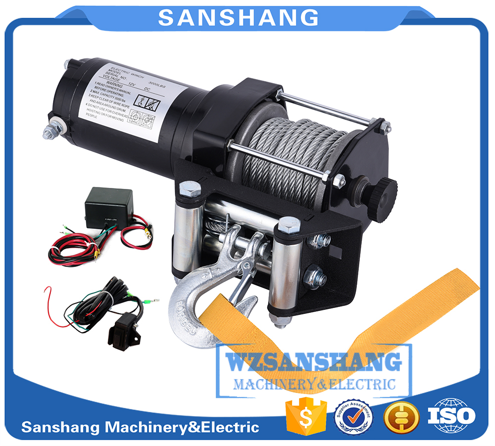 hot sale dynamic braking action 2500LB electric winch kits for ATV UTV off-road vehicle DC12V,Differential Planetary