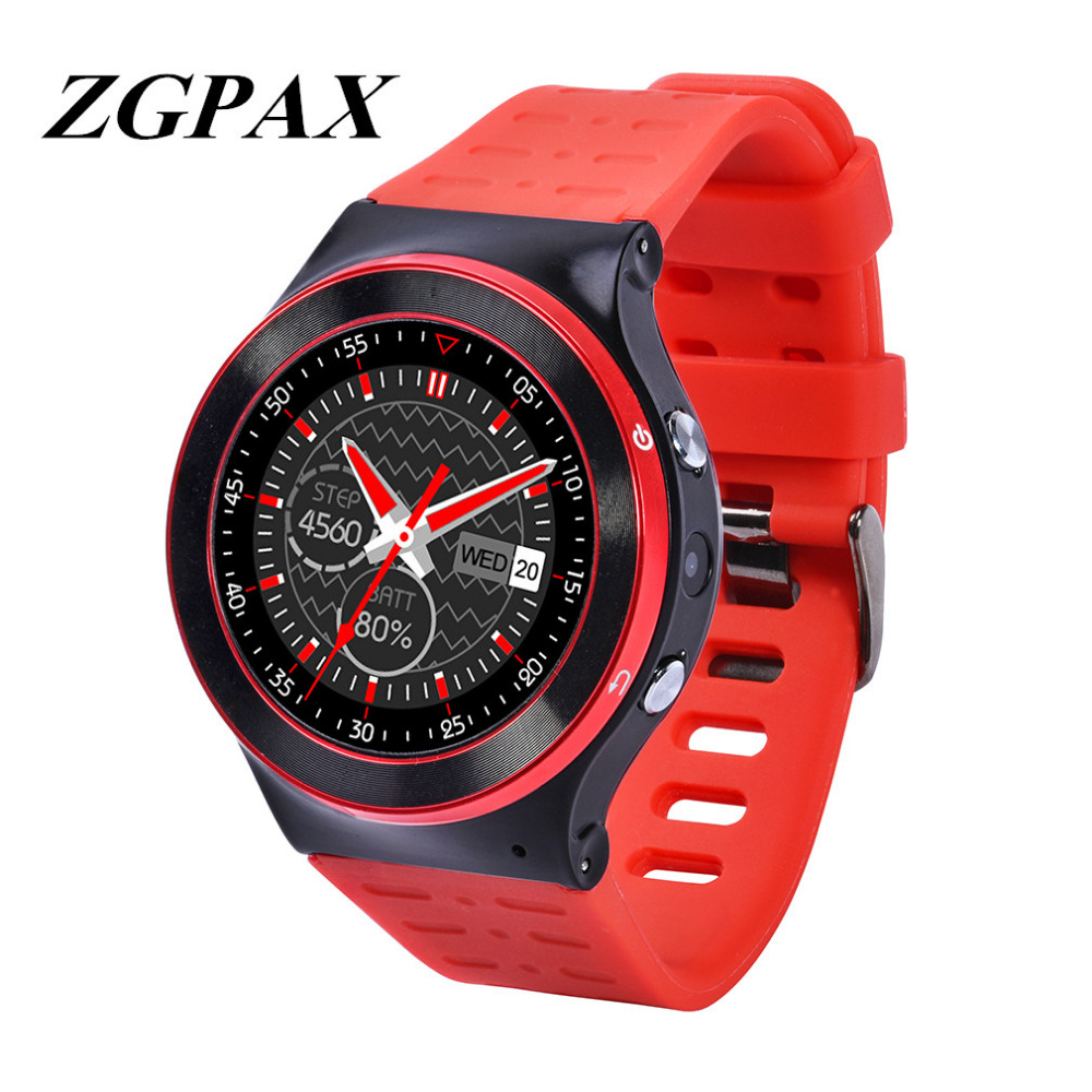 Original ZGPAX S99 GSM 3G Quad Core Android 5.1 Smart Watch With 5.0 MP Camera GPS WiFi Bluetooth V4.0 Pedometer Heart Rate