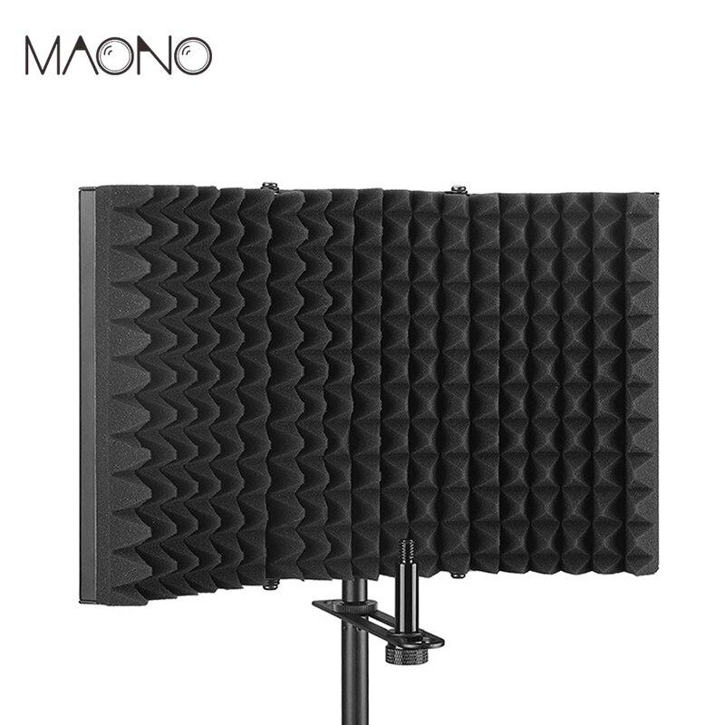 Pliable Microphone Acoustique Isolation Bouclier Alliage Mousses Acoustiques Panneau Studio Microphone d'enregistrement Accessoires