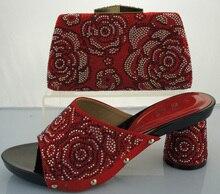Frau Schuhe Und Tasche Set Fashion Pumpt Schuhe Und Passende Tasche Set Für Party Hohe Qualität Italienische Schuhe Mit Tasche Set ME2215