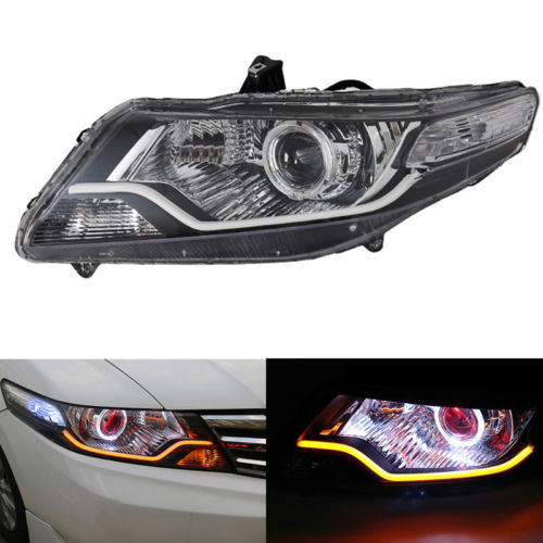 Headlight For Honda City 01/2009-04/2012 With Angel Eye Demon HALO Light And HID 01 2012