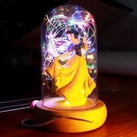 3D Cartoon Snow White Princess Elsa LED Strip Night Light 12V Atmosphere Table Lamp for Kids Decoration Valentine's Day Gifts