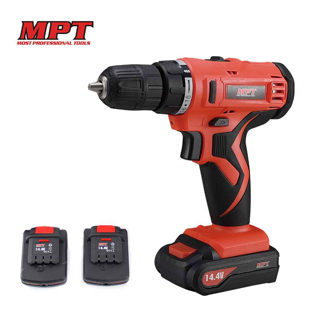 MPT 14.4V Two Rechargeable Lithium Battery Hand Electrical Drill Charger cordless screw driver Electric Screwdriver power tools cordless 12v electric drill screwdriver two speed screw driver power tools with 18 gear torque for handling screws drilling