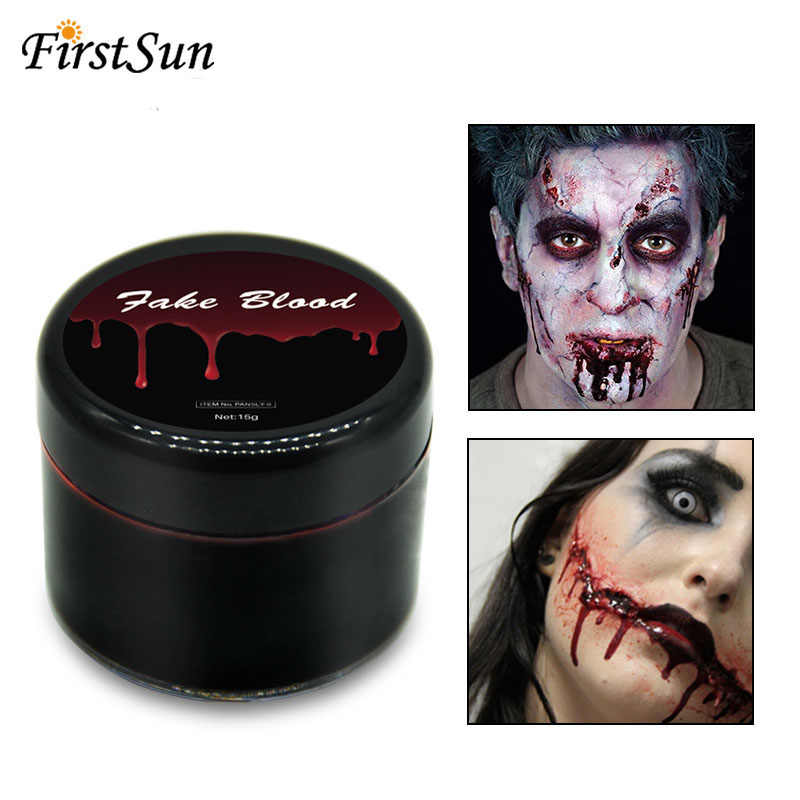 Halloween Makeup Ultra-realistic Fake Blood Face Body Paint Wounds Scars Bruises Cosplay Party Vampire Decorations Supplies
