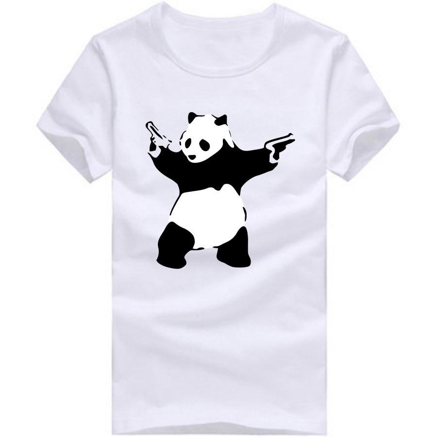 Divertidos Banksy Panda armas divertido camisetas para