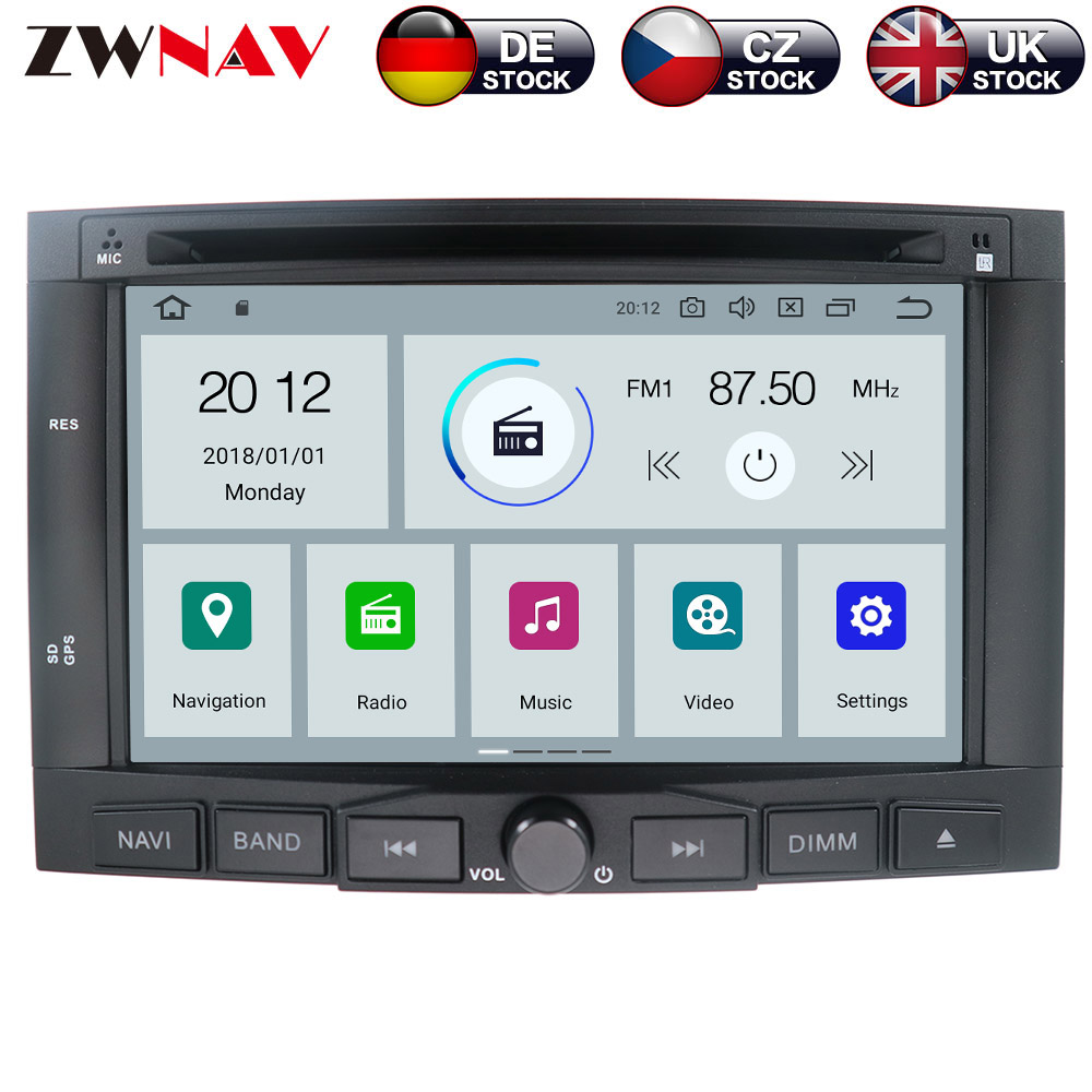 ZWNAV Android 9 0 4 32GB Car DVD Player for PEUGEOT 3008 For Peugeot 5008 2009