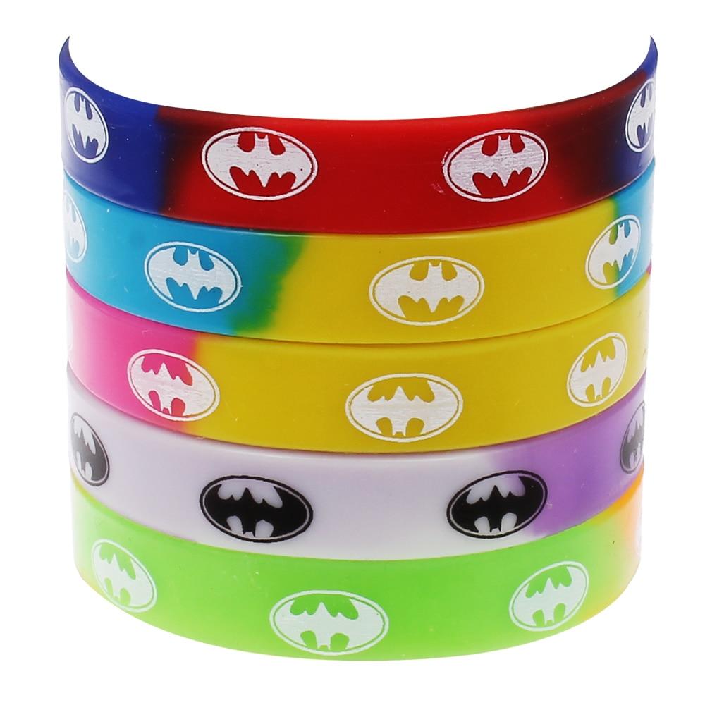 10pcs New Fashion Men Women Unisex Silicone Rubber Bracelets Evil Team Work  Print Customized Sport Wristband