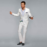 Latest Coat Pant Designs White Men Suits Casual Custom Wedding Suits For Men Groom Beach 2 Pieces Terno Masculino Jacket+Pants
