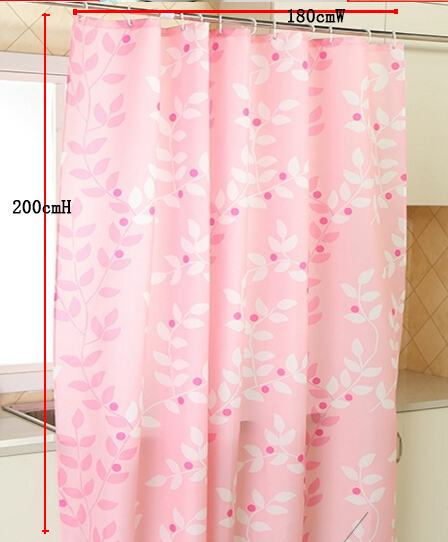 Fyjafon Bathroom Shower Curtains Polyester Fabric Water Proof Bath Curtain Mould Proof