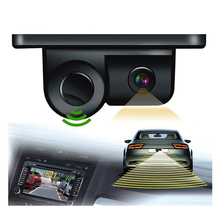 2 In 1 Revers Radar + Rear Camera Car Parking Sensor Car Blind Spot Detection System Auto Reversing Radar Parktronic Sensors стоимость